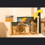 Natività in campo con covoni e luna che sorge - Cooperativa Faliero Onlus