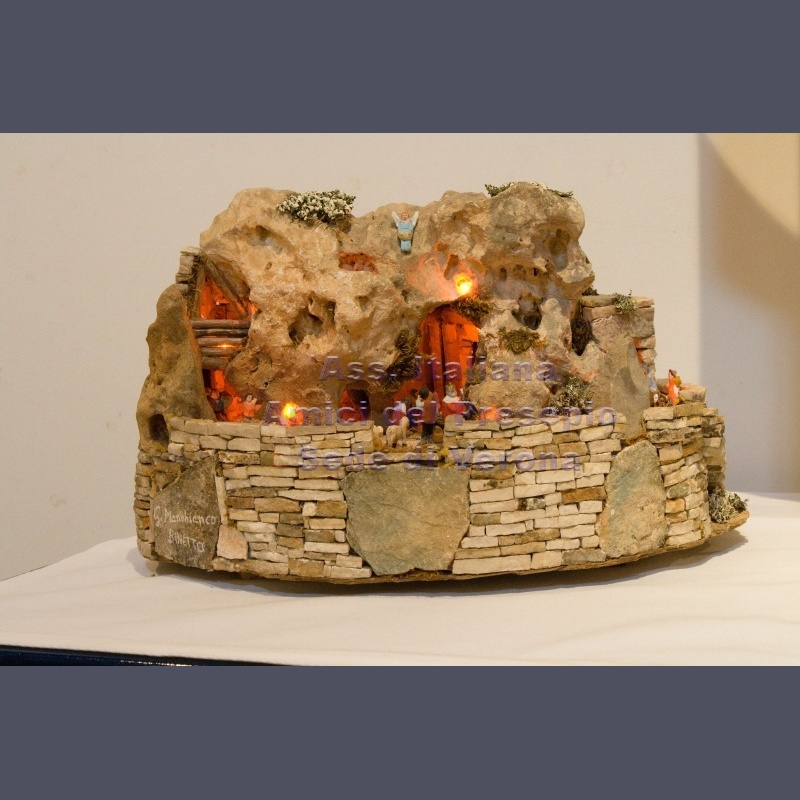 Natività in pietra calcarea pugliese - Manobianco Giuseppe