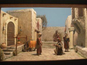 Diorama di sede Visita a Santa Elisabetta